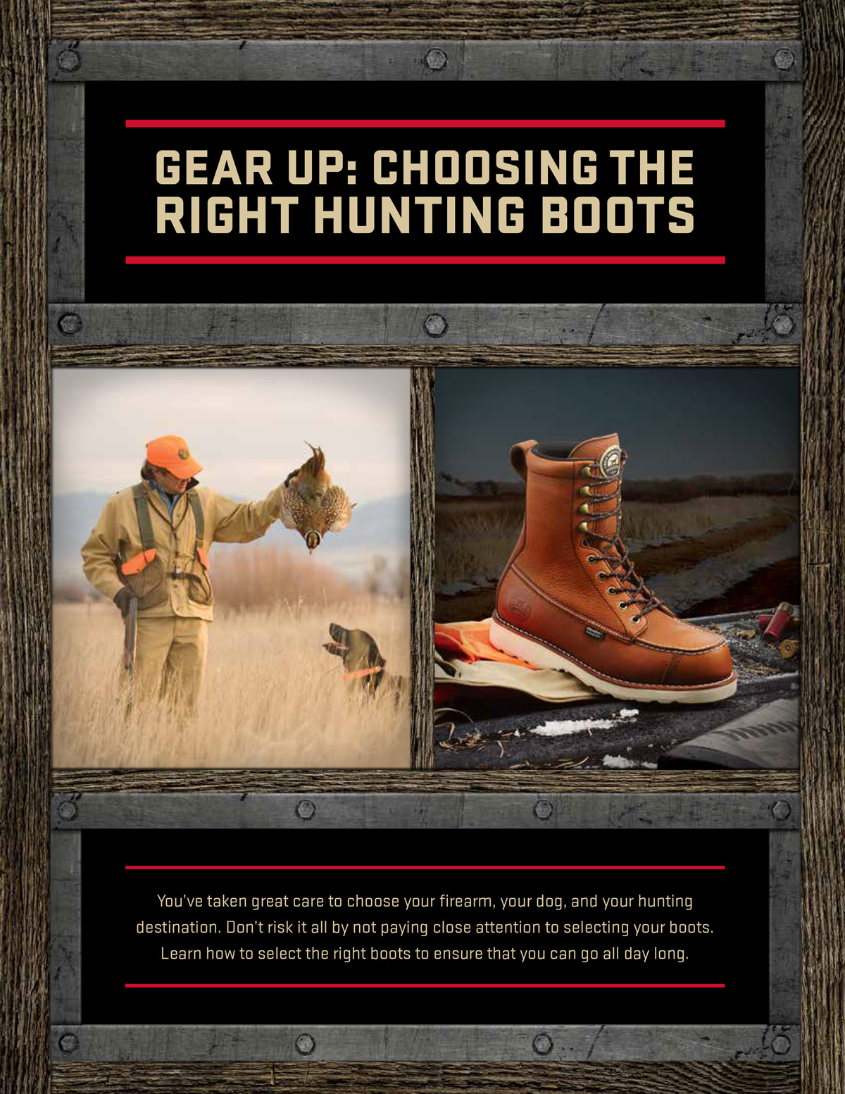 Pheasant Hunting Boots from Irish Setter